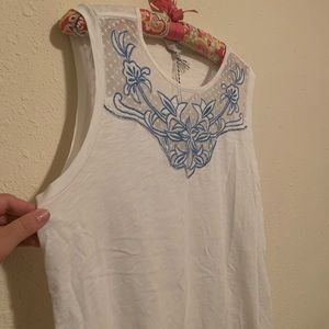 NWT lucky brand embroidered tank
